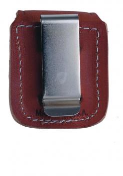 Zippo Ledertasche braun Clip