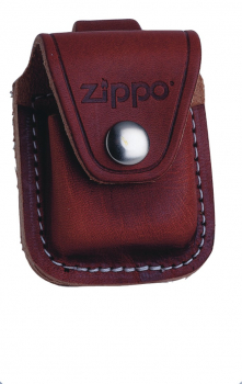 Zippo Ledertasche braun Lasche