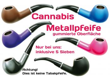 Metall Weed Pipe gummiert ca 14cm