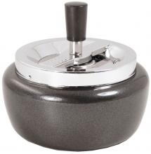 Rotationsascher BIG 13cm Schwarz metallic