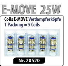 E-MOVE 25 Verdampferköpfe /Coils