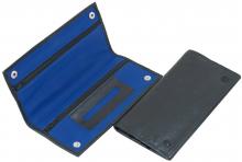 Feinschnittasche Rindleder BICOLOR schwarz/blau