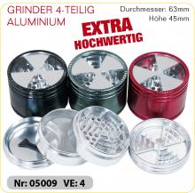 Grinder ALUMINIUM Extra hochwertig 4-teilig 63mm
