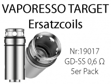 Ersatzcoils VAPORESSO TARGET GD-SS1,6 Ohm