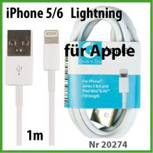 TekMee USB Lightning für Apple Kabel 1m