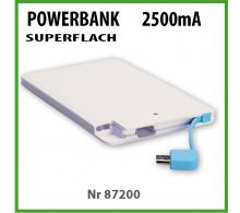Powerbank superflach 2500mA GÜNSTIG