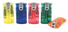 Jet & Normalflamme Kombi Feuerzeug transparent