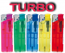 TURBO Feuerzeug transparent EXTRA IV