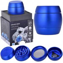 Luxusgrinder Aluminium 4-teilig 50mm Champ High SHINING BLUE
