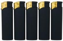 Elektronikfeuerzeug schwarz/gold