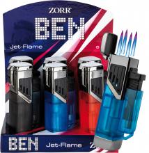 BEN 4er Jetflame Feuerzeug