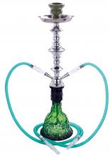 Wasserpfeife 2er SOLID Glass grün ca 55cm