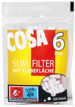 COSA Slimfilter 6mm mit Klebefläche 20 x 120er
