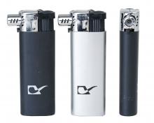 Pfeifen-Feuerzeuge schwarz silber VE 25